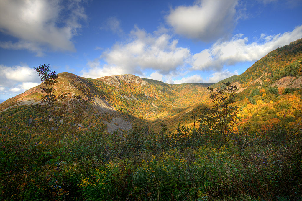 The Cape Breton Highlands are an awesome place to go on a fall vacation in Canada